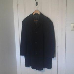 Calvin Klein coat wool blend black mens 44R